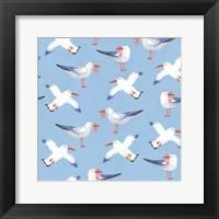 Framed Coastal Birds Pattern II