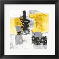 Framed Action II Yellow and Black Sq