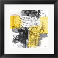 Framed Action I Yellow and Black Sq