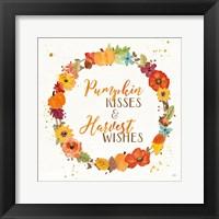 Framed Harvest Wishes II