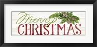 Framed Holiday Sayings II on Wood Whitewash v2