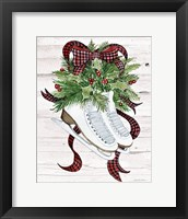 Framed Holiday Sports III on White Wood