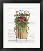Framed Holiday Sports II on White Wood