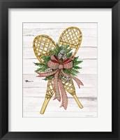 Framed Holiday Sports I on White Wood