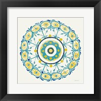 Framed Lakai Circle I Blue and Yellow