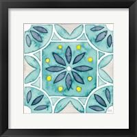 Framed Garden Getaway Tile VIII Teal