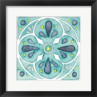 Framed Garden Getaway Tile VI Teal