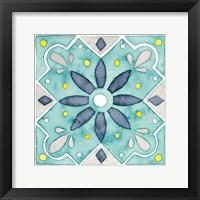 Framed Garden Getaway Tile V Teal