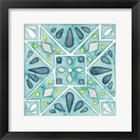 Framed Garden Getaway Tile IX Teal