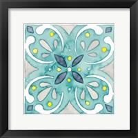 Framed Garden Getaway Tile IV Teal