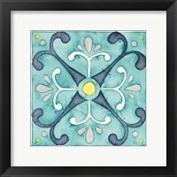 Framed Garden Getaway Tile III Teal