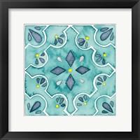 Framed Garden Getaway Tile II Teal