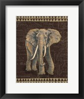 Framed Grand Elephant Traveller