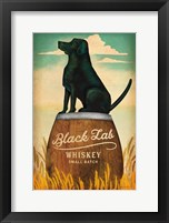 Framed Black Lab Whiskey