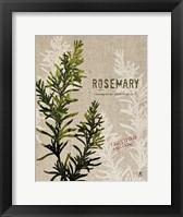 Framed Organic Rosemary No Butterfly