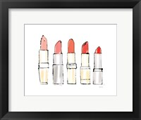 Beauty and Sass Red II Framed Print