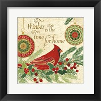Winter Feathers V Framed Print