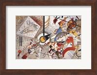 Framed Bustling Aquarelle c1923