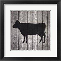 Framed Barn Cow
