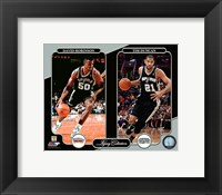 Framed David Robinson & Tim Duncan Legacy Collection