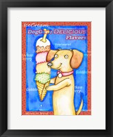 Framed Long Dog Tall Ice Cream