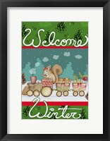 Framed Woodland Express Welcome Winter