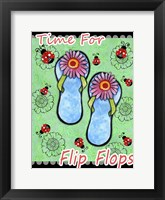 Framed Daisy Flip Flops