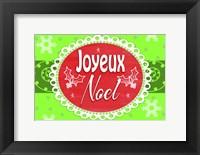 Framed Joyeux Noel