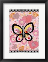 Framed Butterfly Hearts
