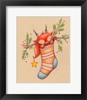 Framed Merry Christmas Little Fox