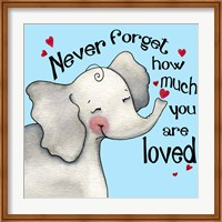 Framed Never Forget Elephant