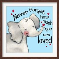 Framed Never Forget Elephant