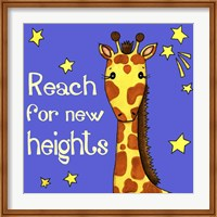 Framed New Heights Giraffe