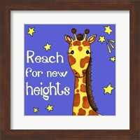 Framed New Heights Giraffe