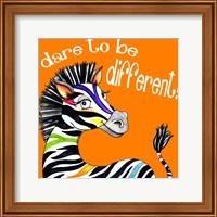Framed Different Zebra