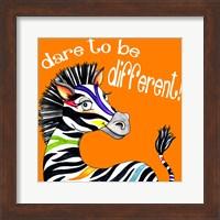 Framed Different Zebra
