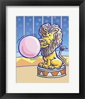 Framed Bubble Gum Lion