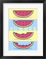 Framed SummerFlag Watermelon Summer 1