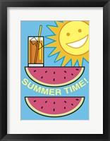 Framed SummerFlag Watermelon Summer 2