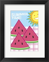 Framed SummerFlag Watermelon Summer 3