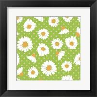 Framed Retro Spring Daisies