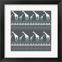 Framed Tribal Giraffes