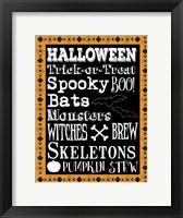 Framed Halloween Words 1 Outlines