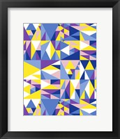 Framed Geometrics Blue