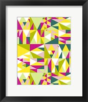 Framed Geometrics Green