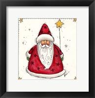 Framed Santa Holding A Star Balloon