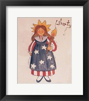 Framed Liberty Lady