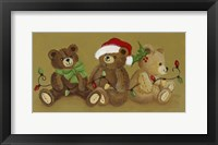 Framed Three Teddies