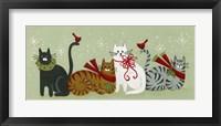 Framed Christmas Cats