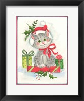 Framed Cat with Gifts